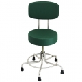 """Non-Magnetic MRI Adjustable Stool, 15"""" to 21"""" with Rubber Tips a"""