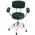 """Non-Magnetic MRI Adjustable Stool, 15"""" to 21"""" with Rubber Tips,"""