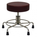 """Non-Magnetic MRI Adjustable Stool, 21"""" to 27"""" with Rubber Tips"""